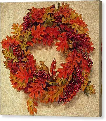 Autumn Wreath Canvas Print by Aimee L Maher Photography and Art Visit ALMGallerydotcom