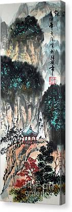 Canvas Print featuring the painting Autumn  by Yufeng Wang