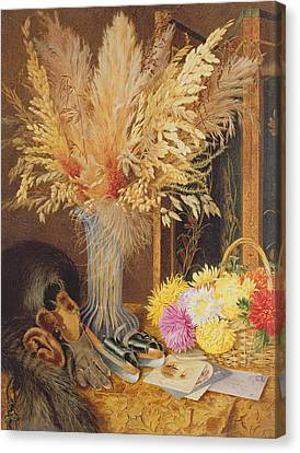 Autumnal Still Life Canvas Print by Marian Emma Chase