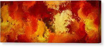 Autumn's Abstract Beauty Canvas Print