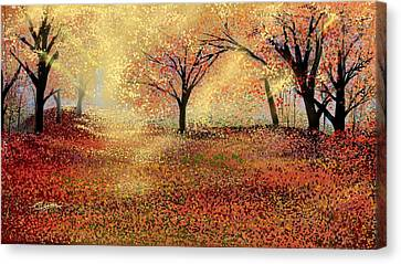 Autumn's Colors Canvas Print by Anthony Fishburne