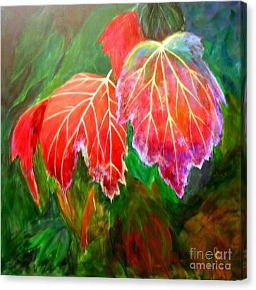 Autumn's Dance Canvas Print by Nancy Czejkowski