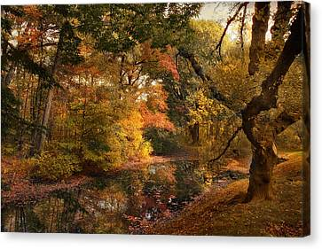 Canvas Print featuring the photograph Autumn's Edge by Jessica Jenney