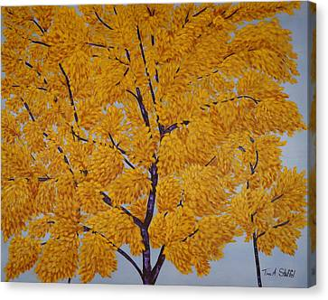 Autumn's Golden Glow Canvas Print