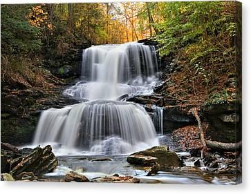Autumn's Magical Spell On Tuscarora Falls Canvas Print