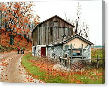 Autumn's Past Time  Canvas Print by Michael Swanson