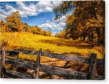 Autumns Pasture Canvas Print by Bob Orsillo