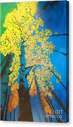 Autumns Yellow Canvas Print