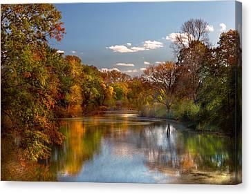 Autumn - Hillsborough Nj - Painted By Nature Canvas Print