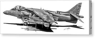 Av-8b Harrier Canvas Print by Dale Jackson