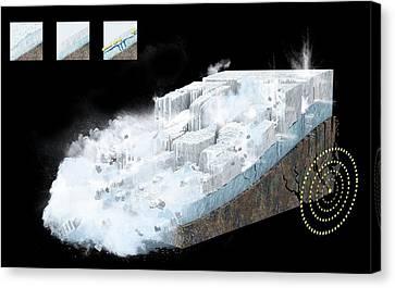 Avalanche And Earthquake Canvas Print by Claus Lunau