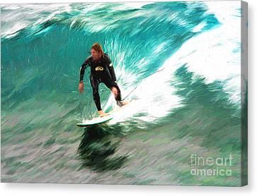 Avalono Surfer Canvas Print by Avalon Fine Art Photography