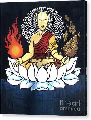 Avatar Aang Buddha Pose Canvas Print by Jin Kai