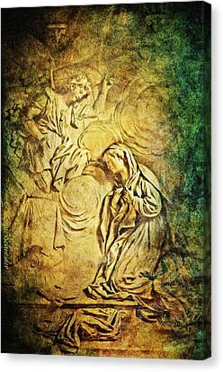 Ave Maria...gratia Plena Canvas Print by Lianne Schneider