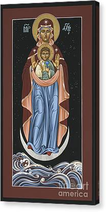 Canvas Print featuring the painting Ave Maris Stella  Hail Star Of The Sea 044 by William Hart McNichols