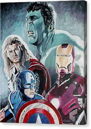 Avengers Canvas Print by Jeremy Moore