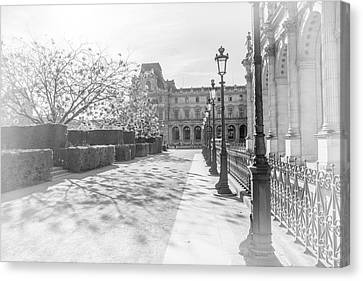 Avenue De La Louve In Black And White Canvas Print by Ramona Murdock