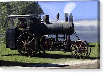Avery Sawmill Special Vintage Steam Engine Canvas Print by F Leblanc