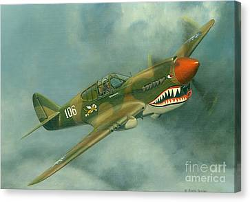 Avg Flying Tiger Canvas Print by Michael Swanson
