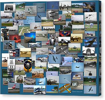 Coller Canvas Print - Aviation Collage by Thomas Woolworth