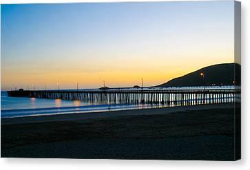 Avila Beach Pier Sunset Canvas Print
