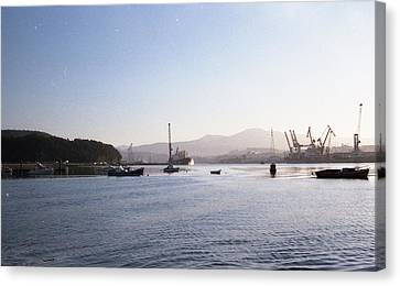 Aviles Port Canvas Print by Juan  Bosco