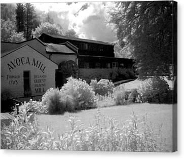Avoca Mill Infrared Canvas Print by Paulette Mortimer