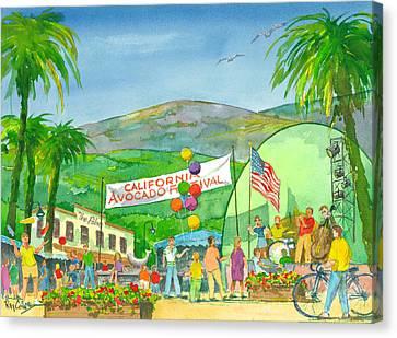 Avocado Festival Canvas Print by Ray Cole