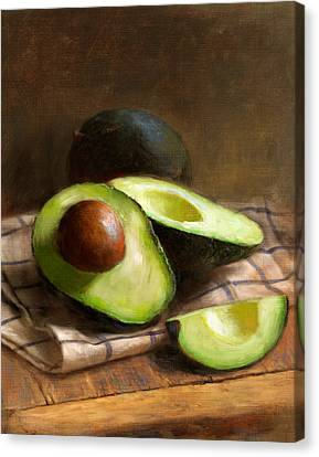 Avocados Canvas Print by Robert Papp