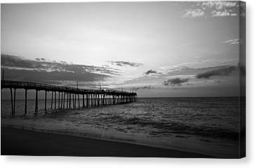 Avon Pier In Outer Banks Nc Canvas Print by Kelly Hazel