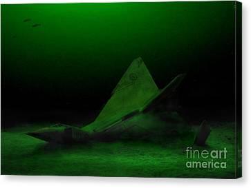 Avro Arrow In Lake Ontario Canvas Print by Tom Straub