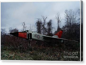 Avro Arrow In The Cove Canvas Print by Tom Straub