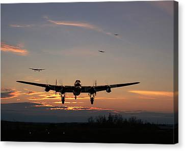 Avro Lancaster - Dawn Return Canvas Print by Pat Speirs