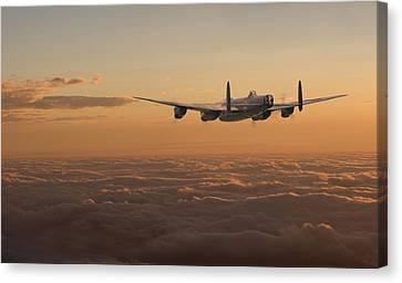 Avro Lancaster - Homeward Canvas Print by Pat Speirs