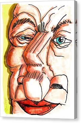 Avuncular Homunculus Canvas Print by Del Gaizo