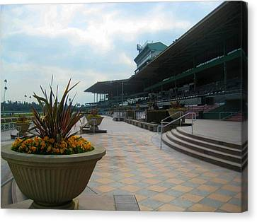 Awaiting The Crowd At Santa Anita Park Canvas Print