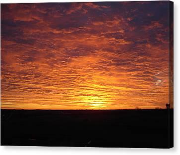 Canvas Print featuring the photograph Awaiting The Dawn by J L Zarek