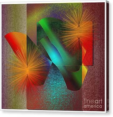 Canvas Print featuring the digital art Awake by Iris Gelbart