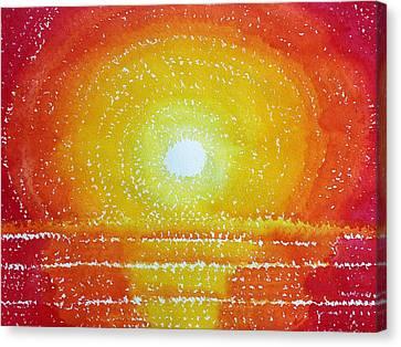 Awakening Original Painting Canvas Print by Sol Luckman