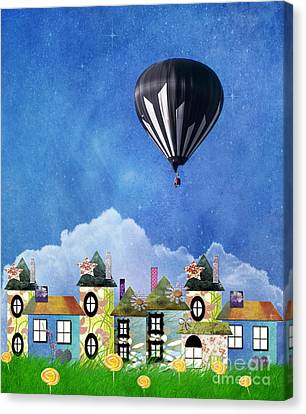 Away Above The Chimney Tops Canvas Print