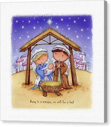Away In A Manger Canvas Print by P.s. Art Studios