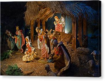 Away In The Manger  Canvas Print by Susan  McMenamin