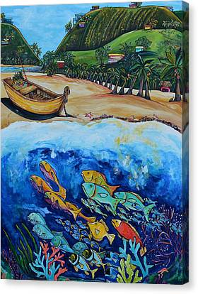 Away With The Fishes Canvas Print by Patti Schermerhorn