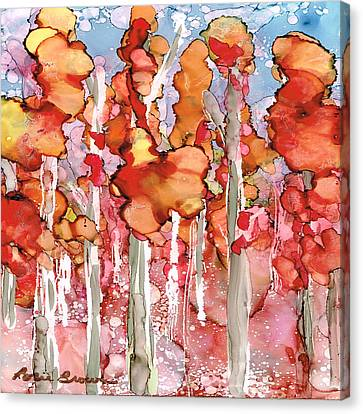 Awesome Autumn Canvas Print by Rosie Brown