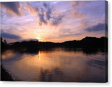 Canvas Print featuring the photograph Awesome Sunset by Lorna Rogers Photography