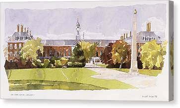 Wren Canvas Print - The Royal Hospital  Chelsea by Annabel Wilson