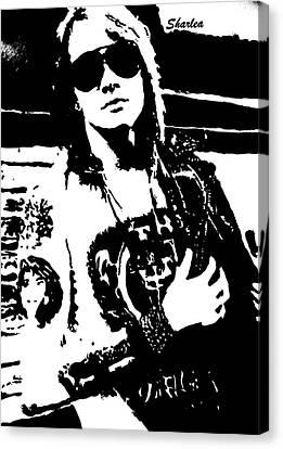 Axl Rose Canvas Print by Paula Sharlea