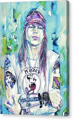 Axl Rose Portrait.1 Canvas Print by Fabrizio Cassetta
