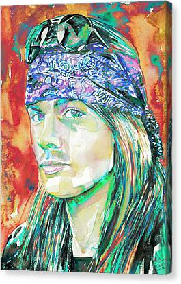 Axl Rose Portrait.2 Canvas Print by Fabrizio Cassetta