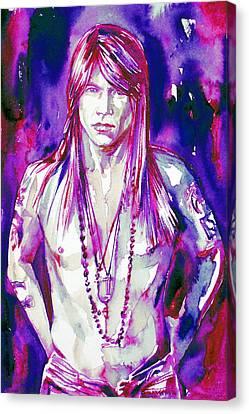 Axl Rose Portrait.3 Canvas Print